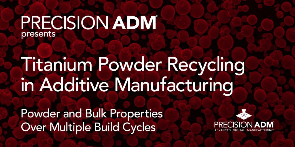 Webinar: Titanium Powder Recycling in Additive Manufacturing – Powder and Bulk Properties Over Multiple Build Cycles @ Online Webinar
